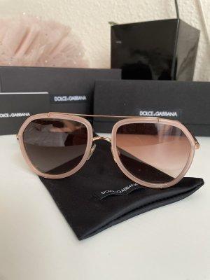 Dolce & Gabbana Gafas de piloto rosa empolvado-marrón