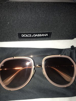 Dolce & Gabbana Okulary pilotki w kolorze różowego złota-złoto