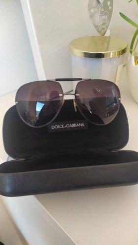 Dolce & Gabbana Aviator Glasses black-silver-colored
