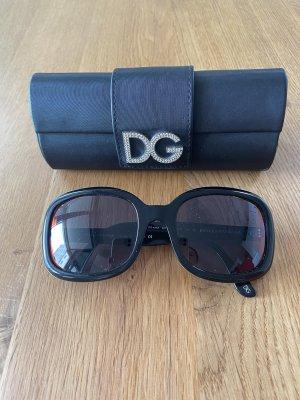 Dolce & Gabbana Lunettes de soleil angulaires noir-brun