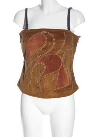 Dolce & Gabbana Top de tirantes finos marrón look casual