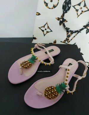 Dolce & Gabanna T-Strap Sandals multicolored