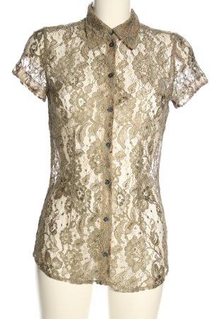 Dolce & Gabbana Koronkowa bluzka złoto Imprezowy wygląd