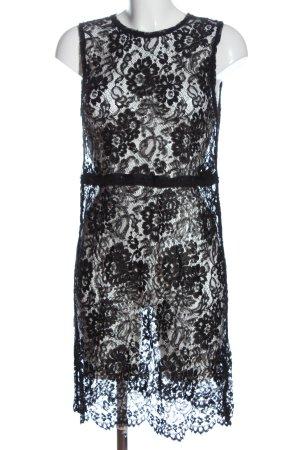 Dolce & Gabbana Spitzenkleid schwarz Webmuster Elegant
