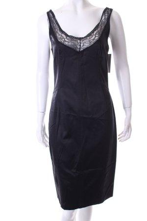 Dolce & Gabbana Spitzenkleid schwarz Glanz-Optik