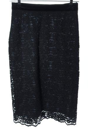 Dolce & Gabbana Spitzenrock schwarz Blumenmuster Elegant