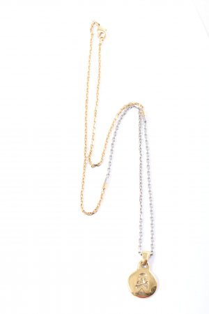 Dolce & Gabbana Statementkette goldfarben-silberfarben Glanz-Optik