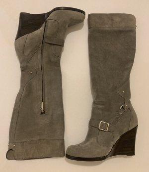 Dolce & Gabbana Platform Boots grey leather