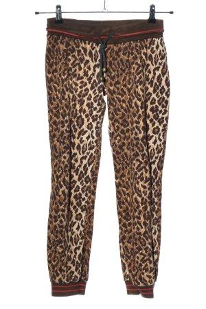 Dolce & Gabbana Stoffhose braun-creme Allover-Druck extravaganter Stil
