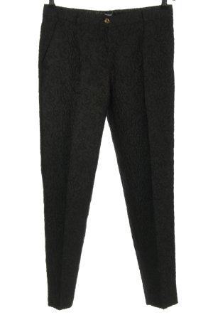 Dolce & Gabbana Pantalon en jersey noir imprimé allover style d'affaires