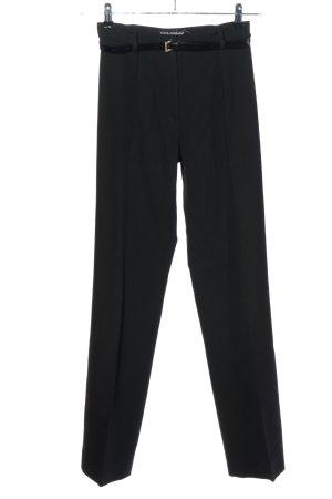 Dolce & Gabbana Pantalón tipo suéter caqui-negro moteado look casual