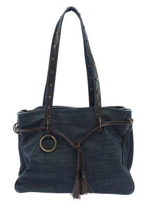 Dolce & Gabbana Bolso de tela azul look casual
