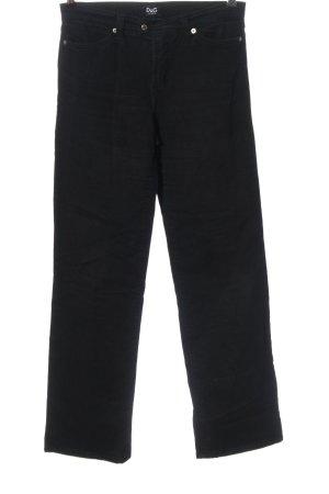 Dolce & Gabbana Straight-Leg Jeans schwarz Casual-Look