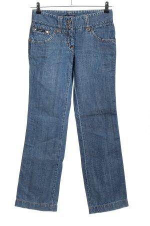 Dolce & Gabbana Straight-Leg Jeans blau Schriftzug gedruckt Casual-Look
