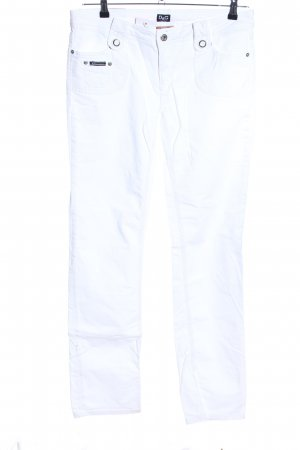 Dolce & Gabbana Straight-Leg Jeans weiß Casual-Look
