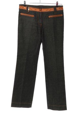 Dolce & Gabbana Jeansy z prostymi nogawkami czarny-jasny pomarańczowy