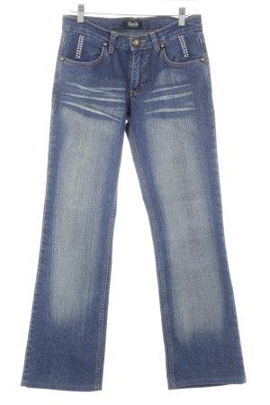 Dolce & Gabbana Jeansy z prostymi nogawkami stalowy niebieski