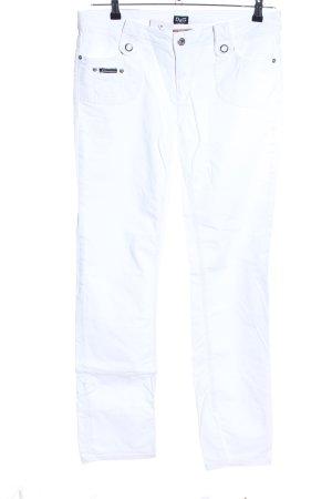 Dolce & Gabbana Jeans coupe-droite blanc style décontracté