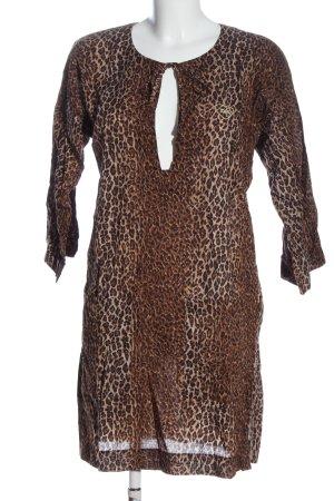 Dolce & Gabbana Beach Dress brown-cream leopard pattern casual look