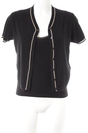 Dolce & Gabbana Strick Twin Set schwarz-weiß Casual-Look