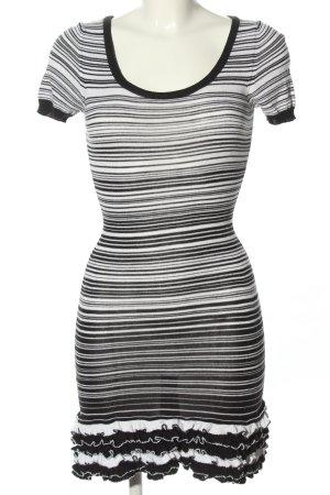 Dolce & Gabbana Sukienka z dzianiny czarny-biały Wzór w paski W stylu casual