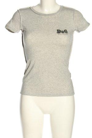 Dolce & Gabbana T-shirt kremowy Melanżowy Elegancki