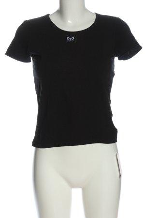 Dolce & Gabbana Camiseta negro look casual