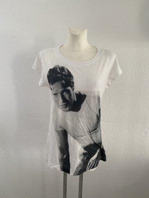 Dolce & Gabbana T-shirt blanc-gris anthracite