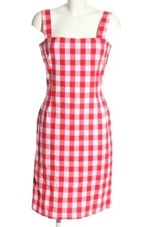 Dolce & Gabbana Sukienka na ramiączkach czerwony-biały Wzór w kratkę