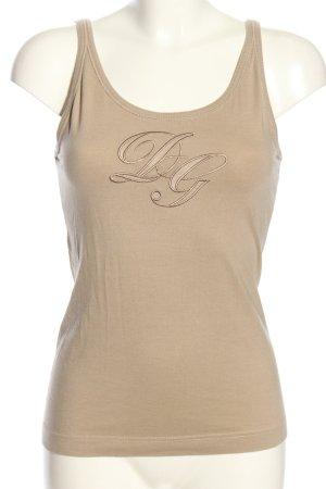 Dolce & Gabbana Trägertop braun Casual-Look