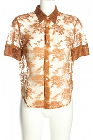 Dolce & Gabbana Transparenz-Bluse braun abstraktes Muster Casual-Look