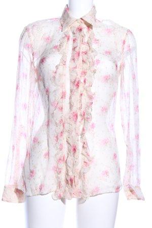 Dolce & Gabbana Transparenz-Bluse Blumenmuster Casual-Look