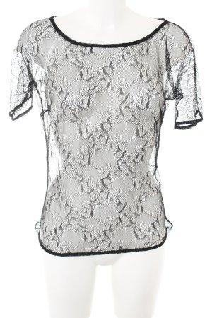 Dolce & Gabbana Transparent Blouse black elegant