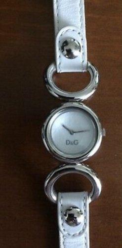 Dolce & Gabbana Montre avec bracelet en cuir blanc-argenté