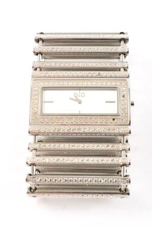 Dolce & Gabbana Uhr mit Metallband silberfarben Casual-Look