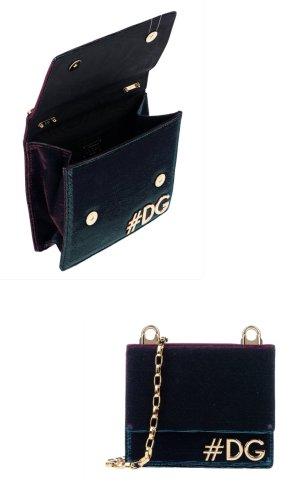 Dolce & Gabbana Crossbody bag petrol mixture fibre