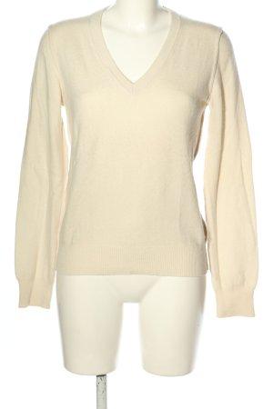 Dolce & Gabbana V-Ausschnitt-Pullover creme Casual-Look