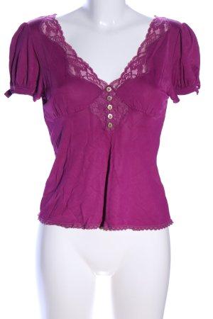 Dolce & Gabbana V-Ausschnitt-Shirt pink Casual-Look