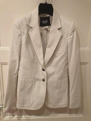 Dolce & Gabbana Weiße Baumwolle blazer