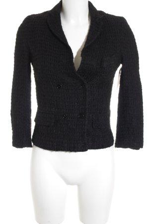 Dolce & Gabbana Woll-Blazer schwarz Webmuster Business-Look