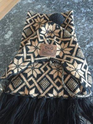 Dolce & Gabbana Sjaal zwart-bruin