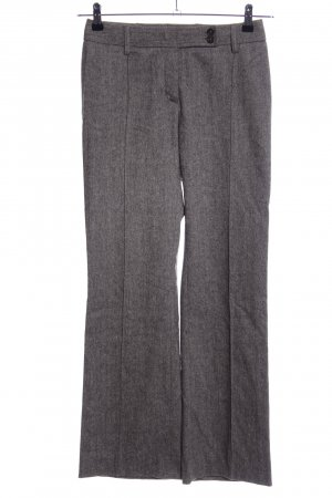 Dolce & Gabbana Pantalone di lana grigio chiaro puntinato stile professionale