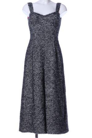Dolce & Gabbana Wollkleid schwarz-weiß Allover-Druck Business-Look