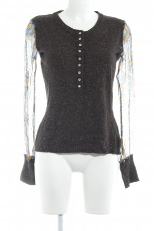 Dolce & Gabbana Wollpullover braun abstraktes Muster Elegant