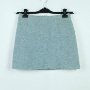 Dolce & Gabbana Falda de lana azul celeste tejido mezclado