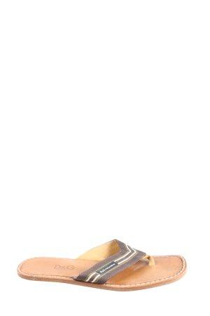 Dolce & Gabbana Zehentrenner-Sandalen braun Streifenmuster Casual-Look