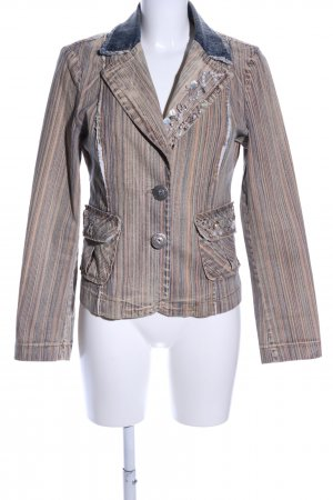 Dolce Ribelle Spijkerblazer gestreept patroon vintage uitstraling