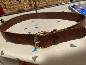 Dolce & Gabbana Cinturón de cuero marrón