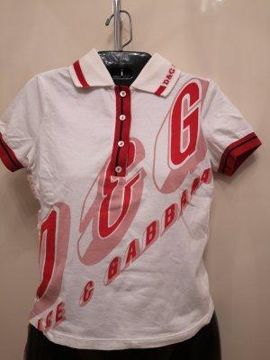Dolce & Gabbana Polo Shirt white-red