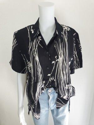 Dolce Vita 40 schwarz weiß Hemd Bluse Cardigan Strickjacke Oversize Pullover Pulli True Vintage